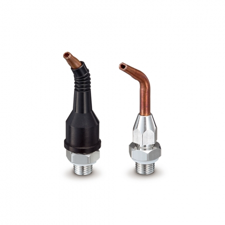 Crooked tip nozzles